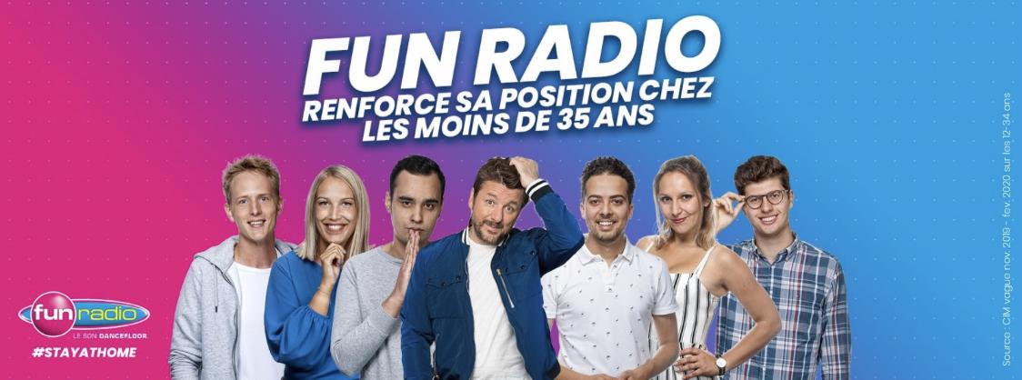 Belgique : Fun Radio renforce sa position chez les 12-34 ans