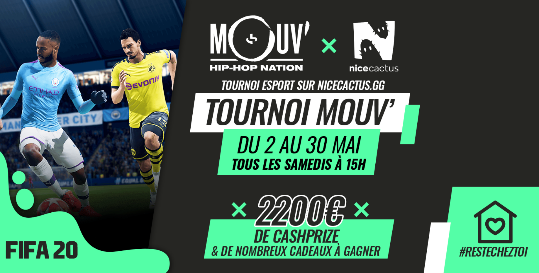 Mouv' lance son premier tournoi e-sport avec Nicecactus