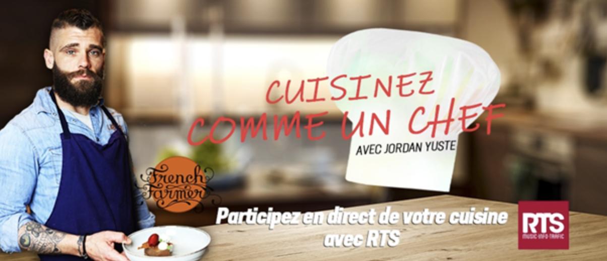 Covid-19 : cuisiner comme un chef grâce à RTS