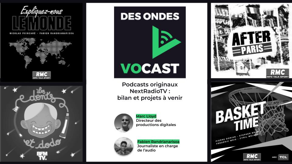 """RMC/BFM : bilan des podcasts originaux et nouveaux contenus dans """"Des Ondes Vocast"""""""