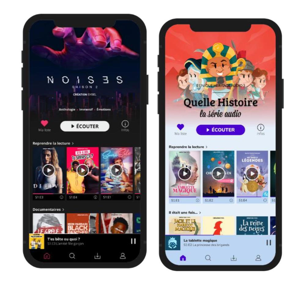 Des livres audio nouvelle génération sur Sybel