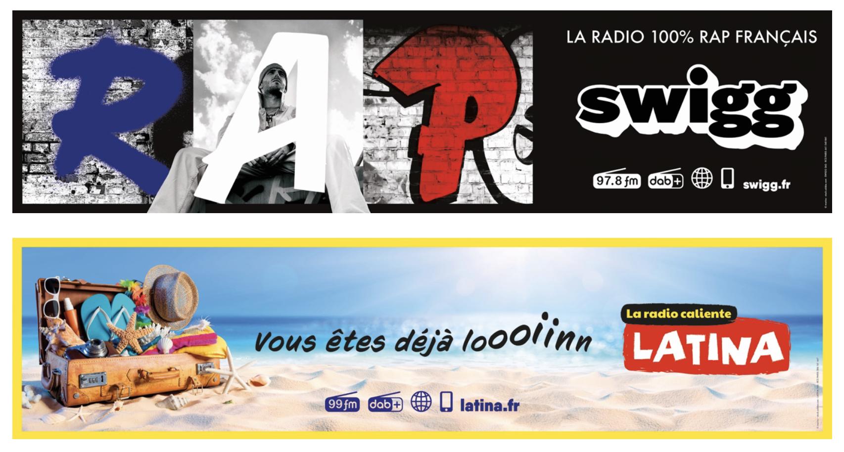 Swigg et Latina s'affichent sur les bus parisiens