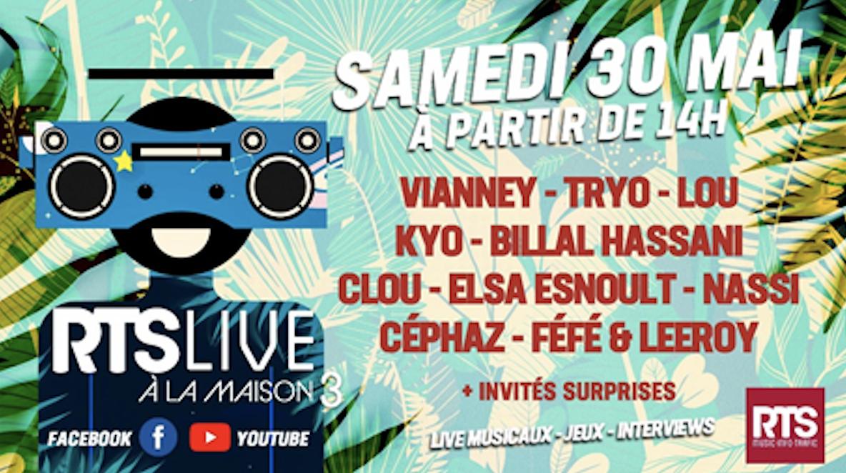 """Covid-19 : un nouvel """"RTS Live à la maison"""" avec RTS"""