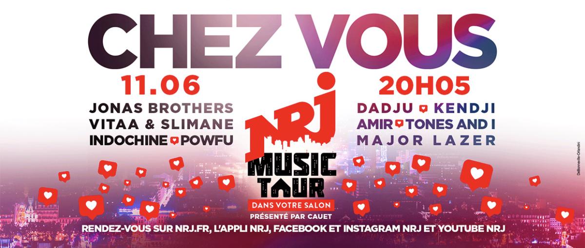"""Ce soir, NRJ organise un """"NRJ Music Tour dans votre salon"""""""