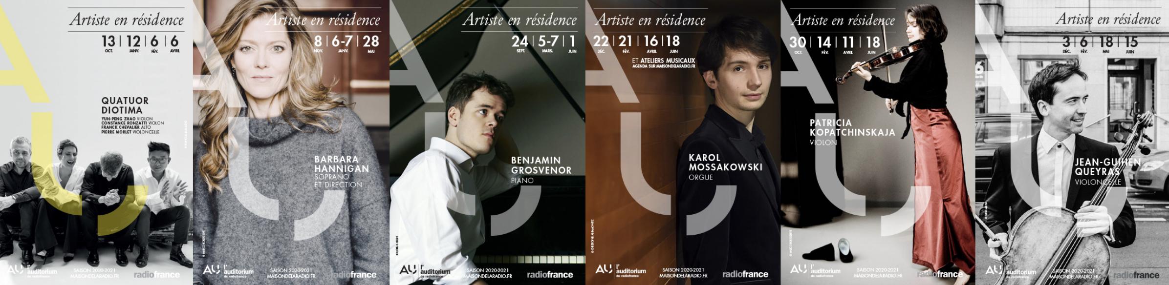 Six artistes en résidence à Radio France