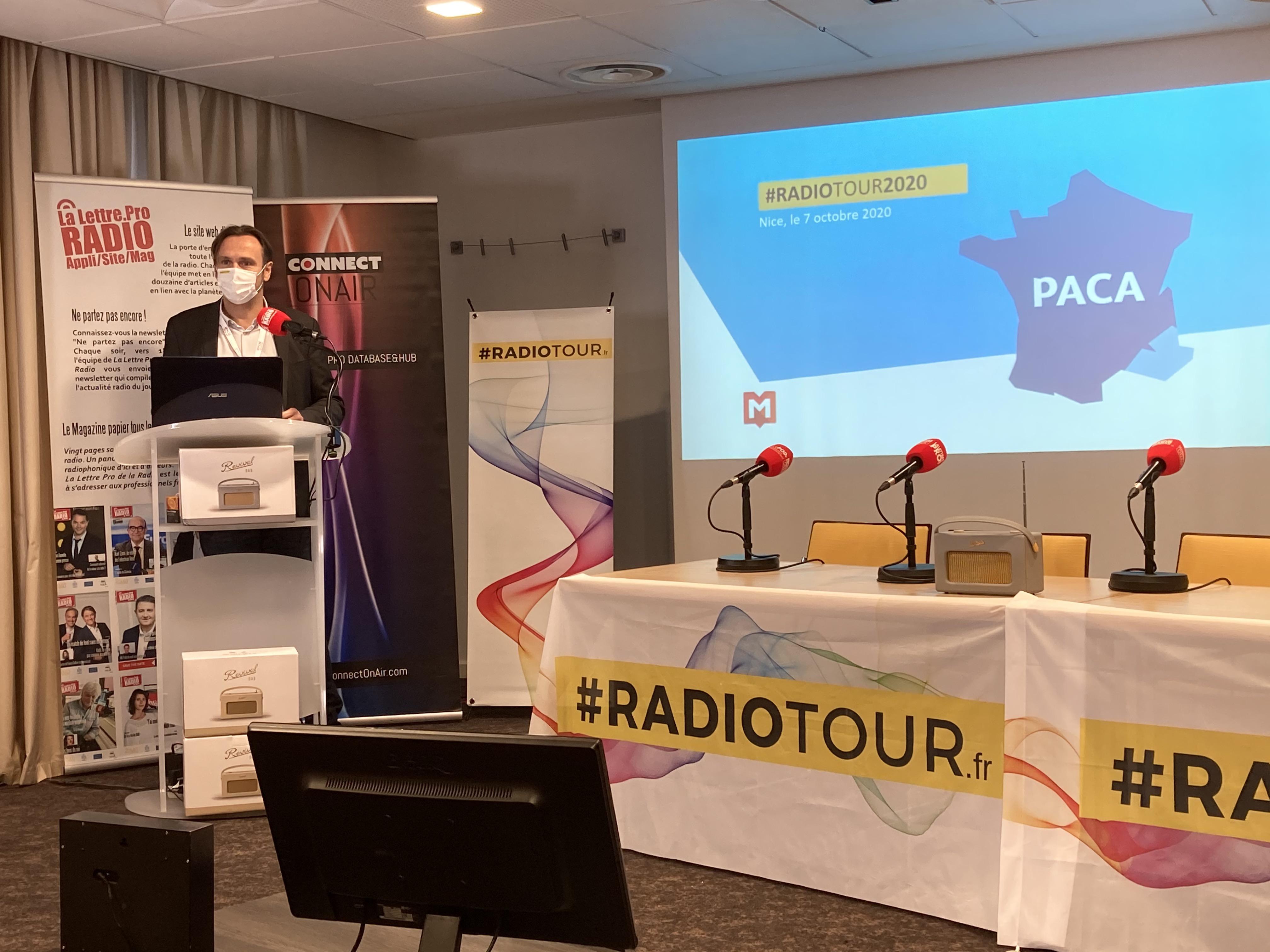 Guy Detrousselle, directeur du Pôle local de Médiamlétrie, a présenté ce matin à Nice des chiffres exclusifs liés à l'audience de la radio en PACA