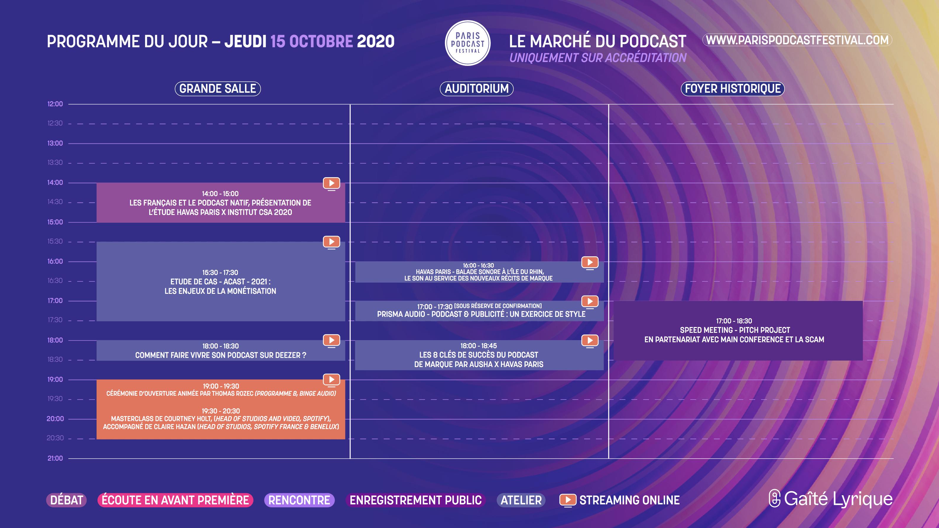 Ouverture du Paris Podcast Festival