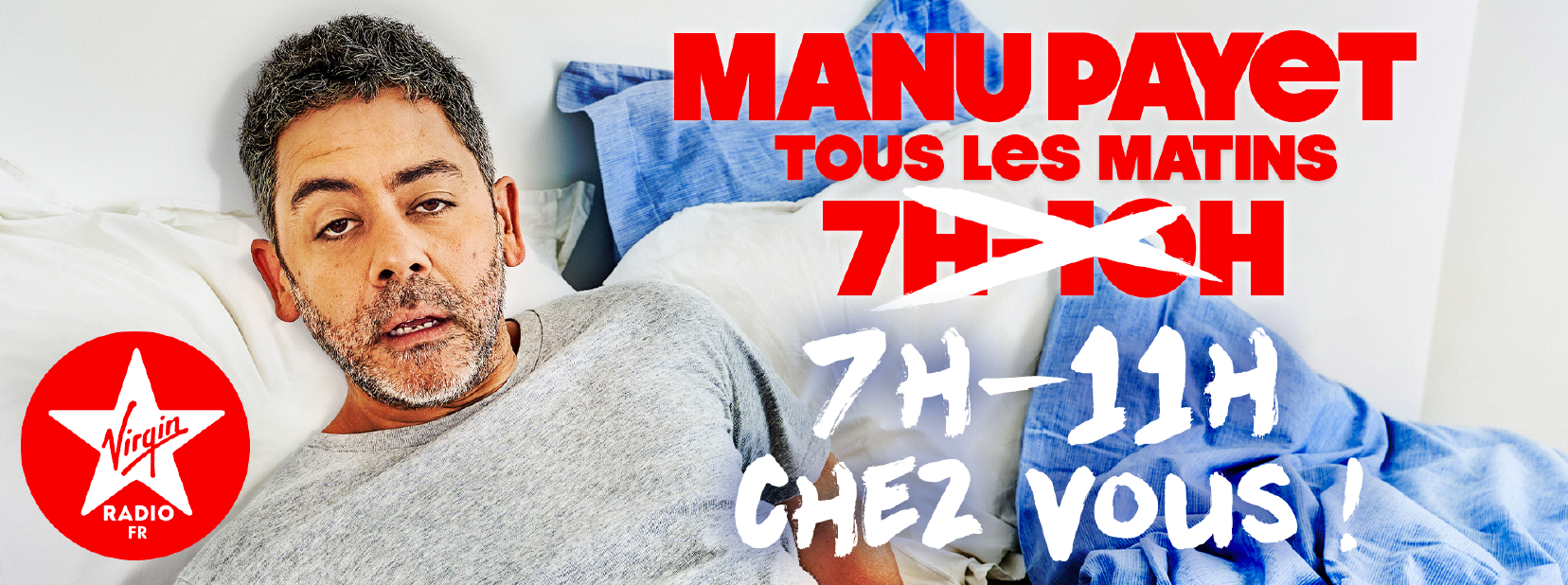 "Manu Payet ""radiotravaille"" jusqu'à 11h sur Virgin Radio"