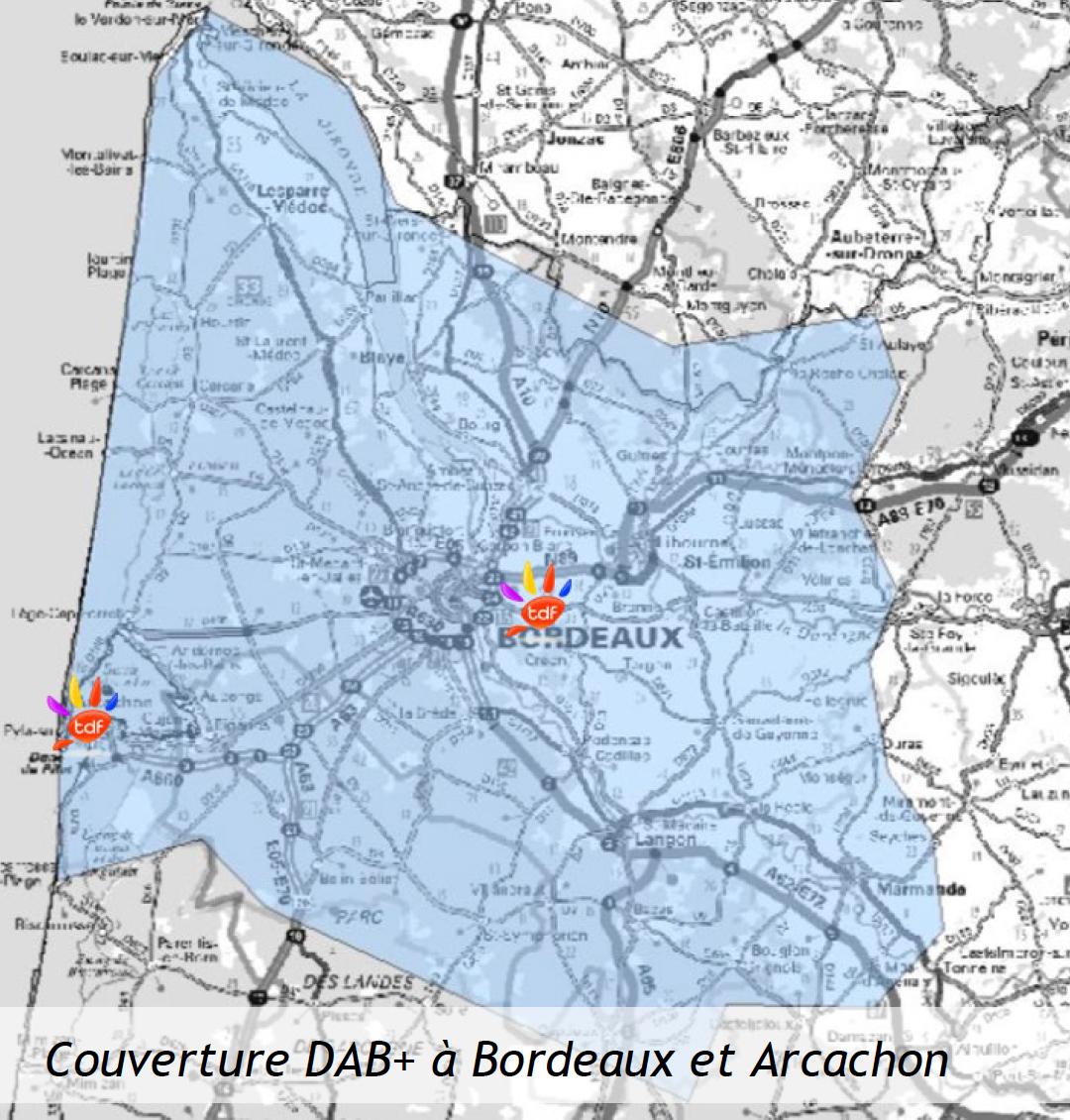 TDF démarre la diffusion du DAB+ à Bordeaux et Arcachon