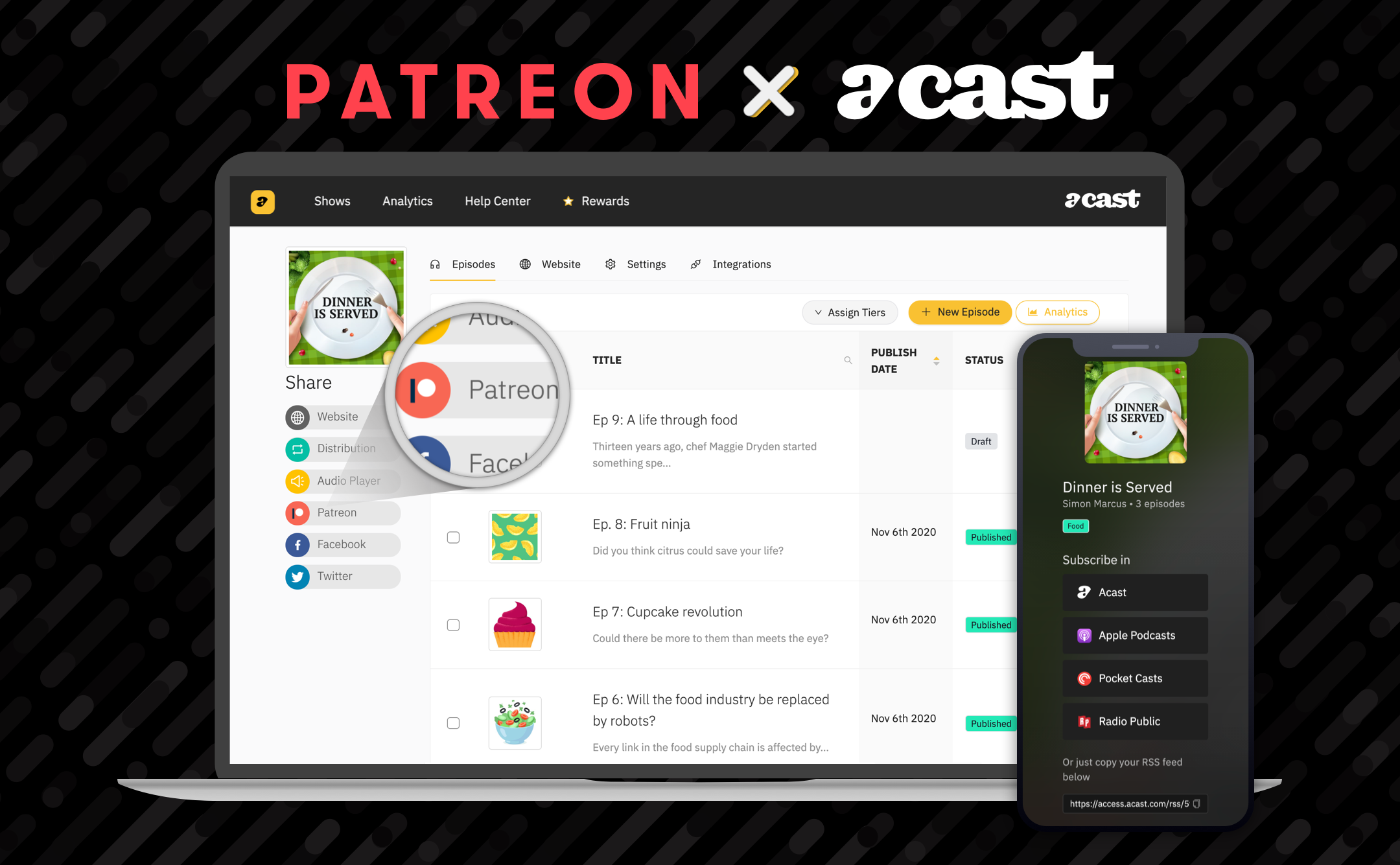 Acast/Patreon : une union en faveur de la création de contenus