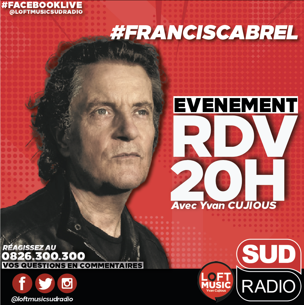 Francis Cabrel en direct sur Sud Radio