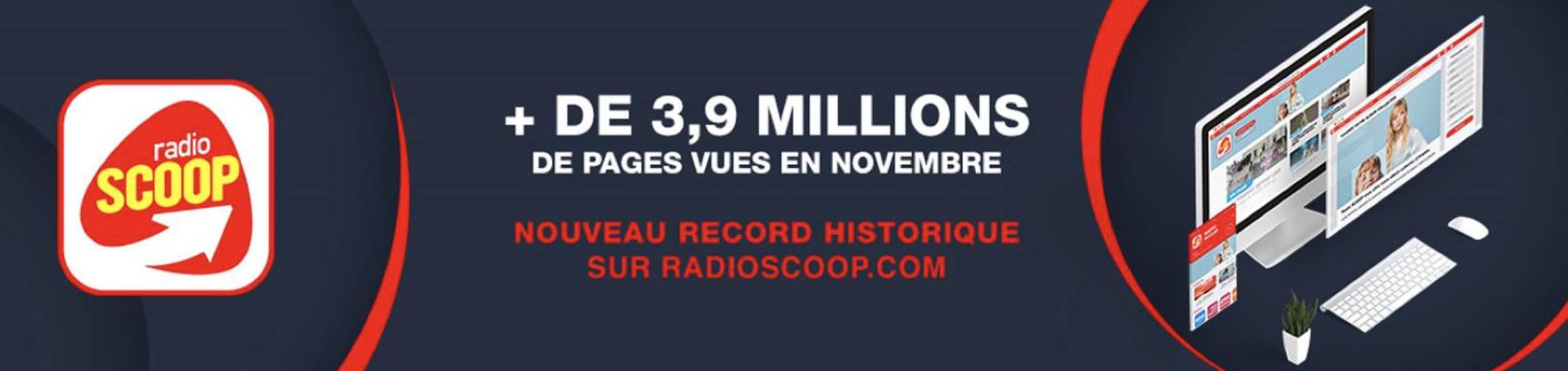 Plus de 3.9 millions de pages vues en novembre pour RadioScoop.com