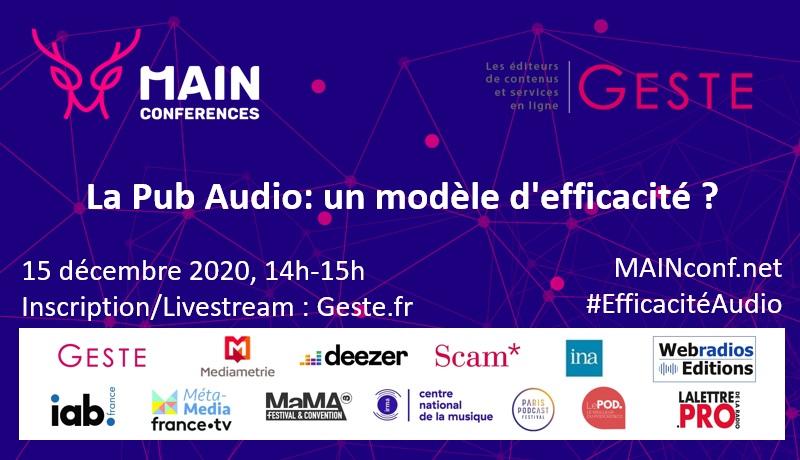 """Débat-Livestream : """"La pub audio : un modèle d'efficacité ?"""""""