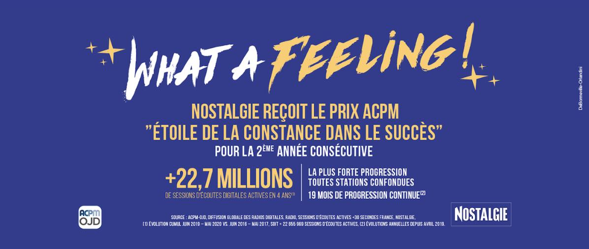 """Le Prix ACPM """"Étoile de la constance dans le succès"""" pour Nostalgie"""