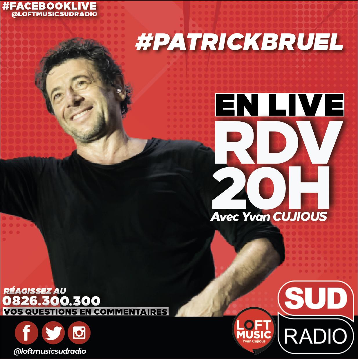 Patrick Bruel en concert sur Sud Radio