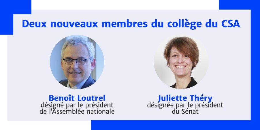 Nomination de deux nouveaux membres du collège du CSA