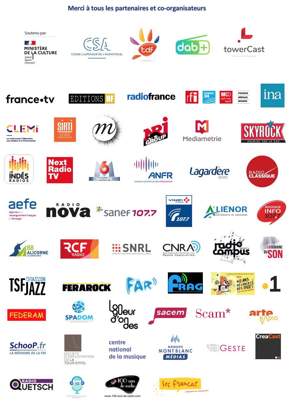 Les partenaires principaux de la Fête de la Radio
