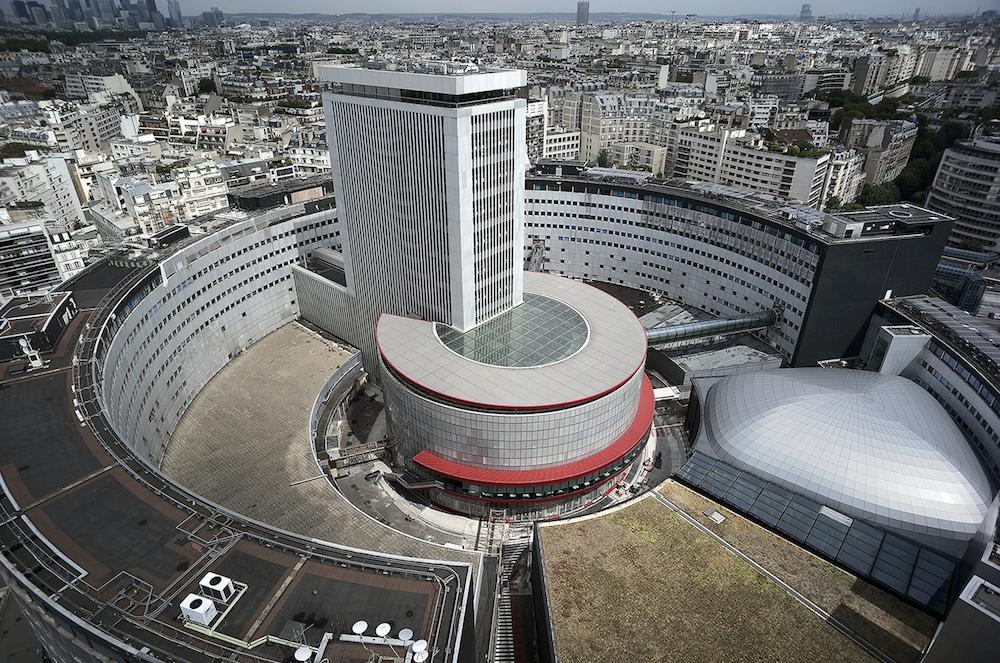 Vue aérienne de la Maison de la radio © Radio France - Christophe Abramowitz