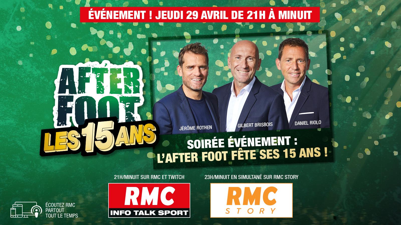 """RMC : """"L'After Foot"""" fête son 15e anniversaire"""