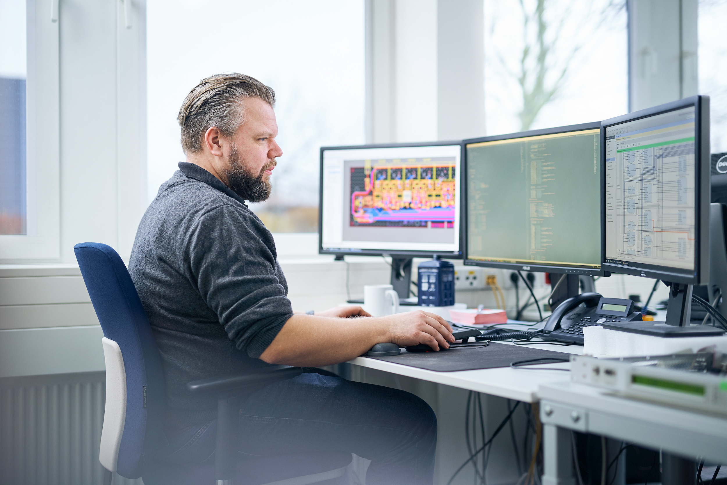 Joost Schultke, un des ingénieurs de 2wcom ayant collaboré au développement du codec MPX-2c. © 2wcom.jpg.