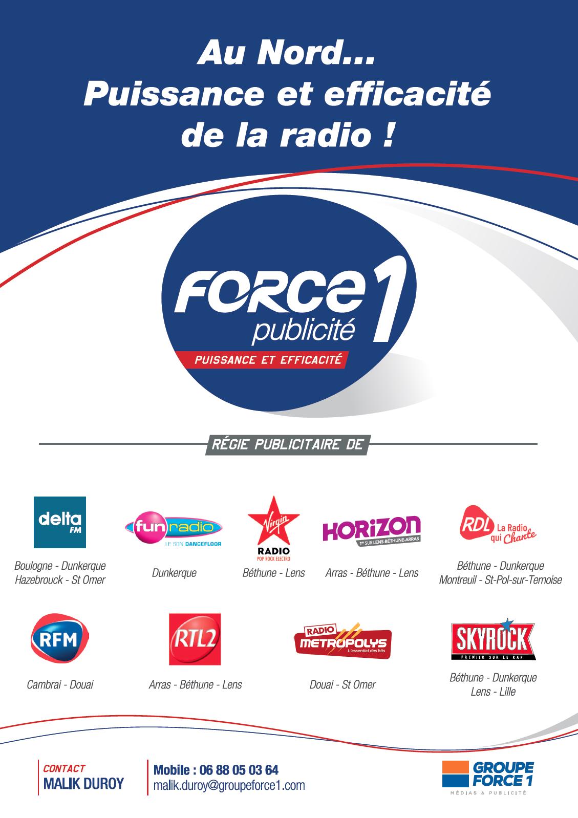 Targetspot accompagne Force 1 Publicité dans l'audio digital