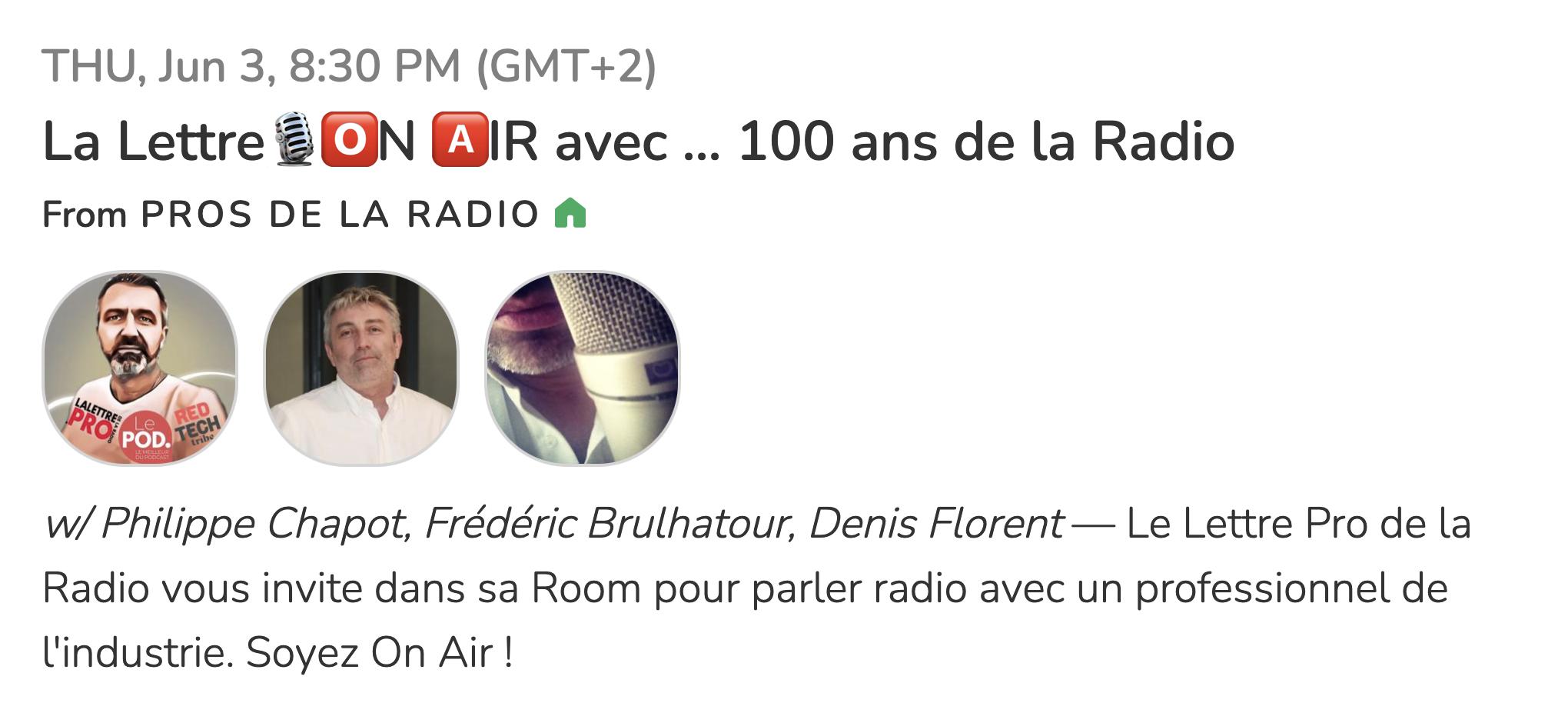 Ce soir à 21h, venez parler de la radio !