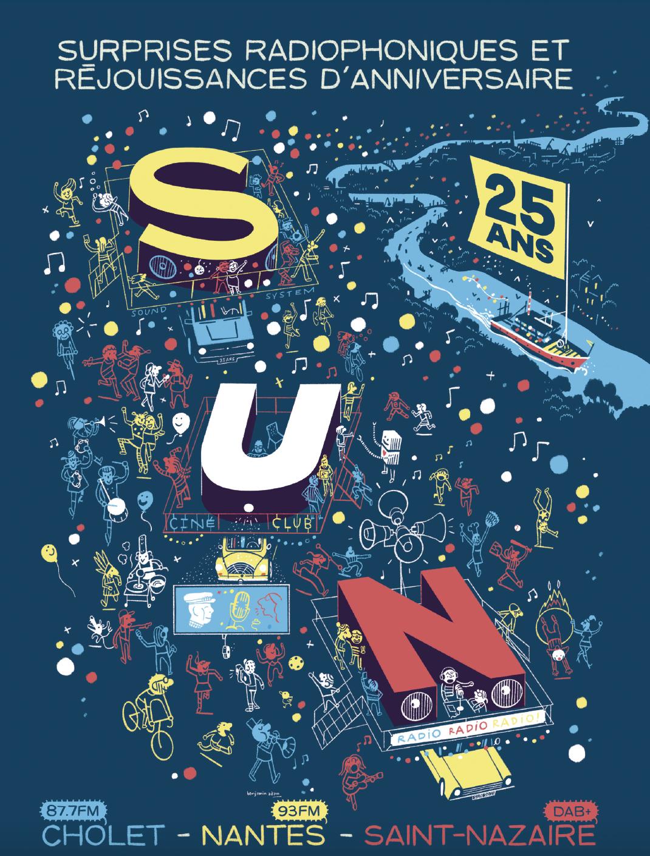 Pour illustrer cette année anniversaire, SUN a fait appel à Benjamin Adam, auteur nantais de bande dessinée.