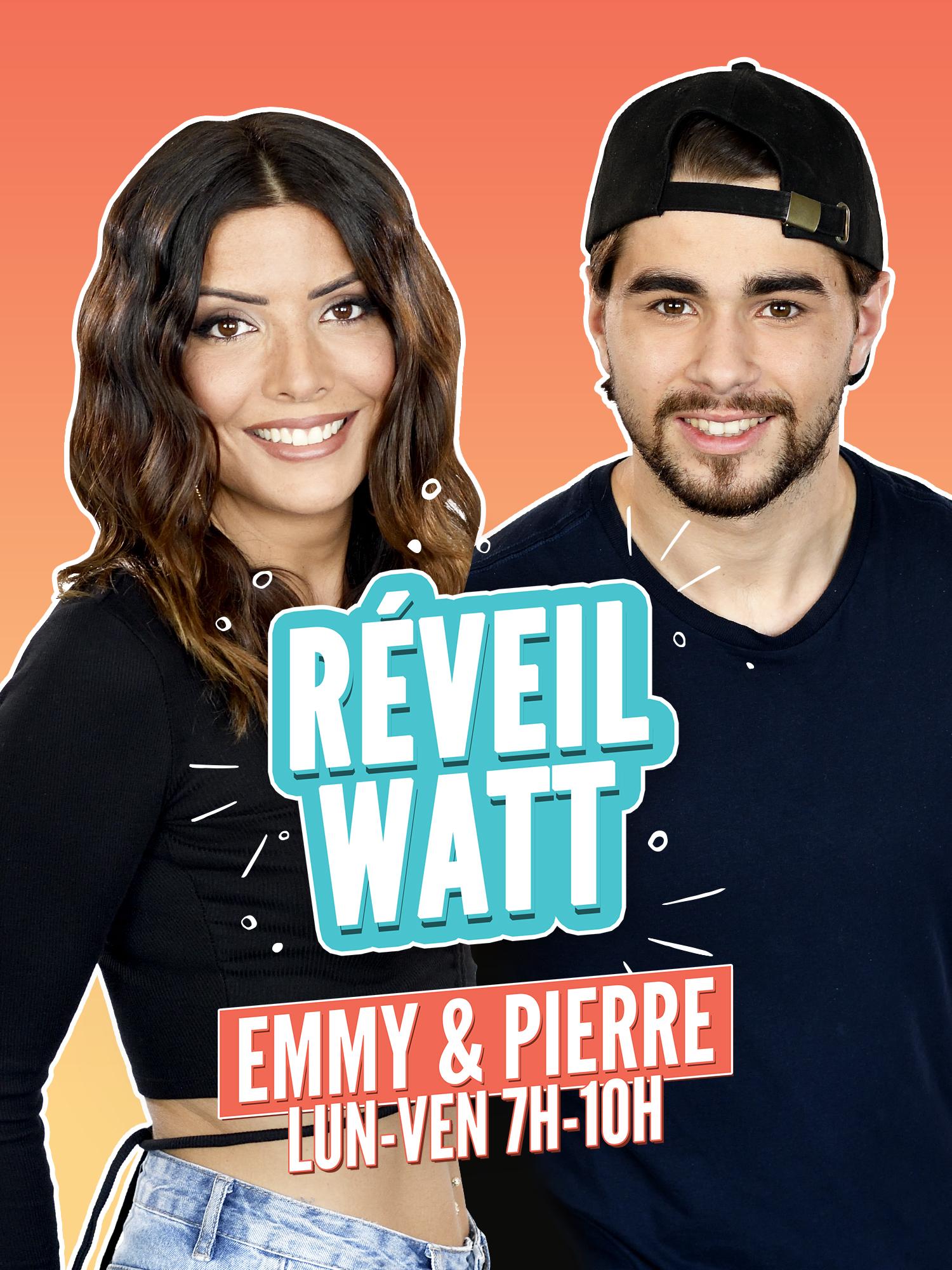 """La matinale """"Réveil Watt"""" sera présenté par Emmy et Pierre en juillet puis par Sandra et Marie en août. Cette matinale est diffusée du lundi au vendredi de 7h à 10h"""