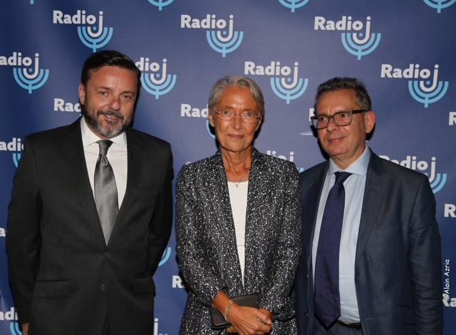 Emmanuel Rials, Élisabeth Borne ministre du Travail, de l'Emploi et de l'Insertion et Frédéric Haziza journaliste à Radio J