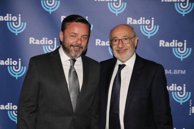 Emmanuel Rials en compagnie de Francis Kalifat, Président du CRIF