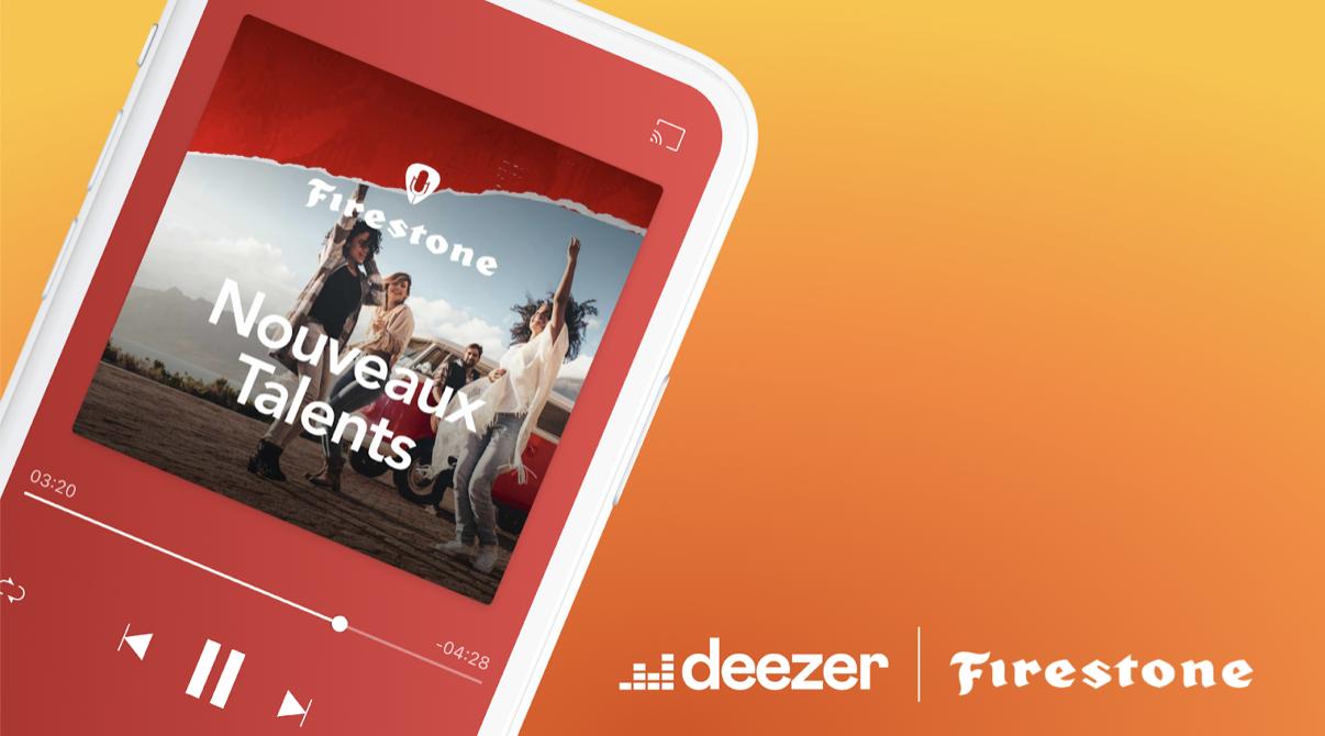 Deezer et Firestone s'associent pour promouvoir les nouveaux talents