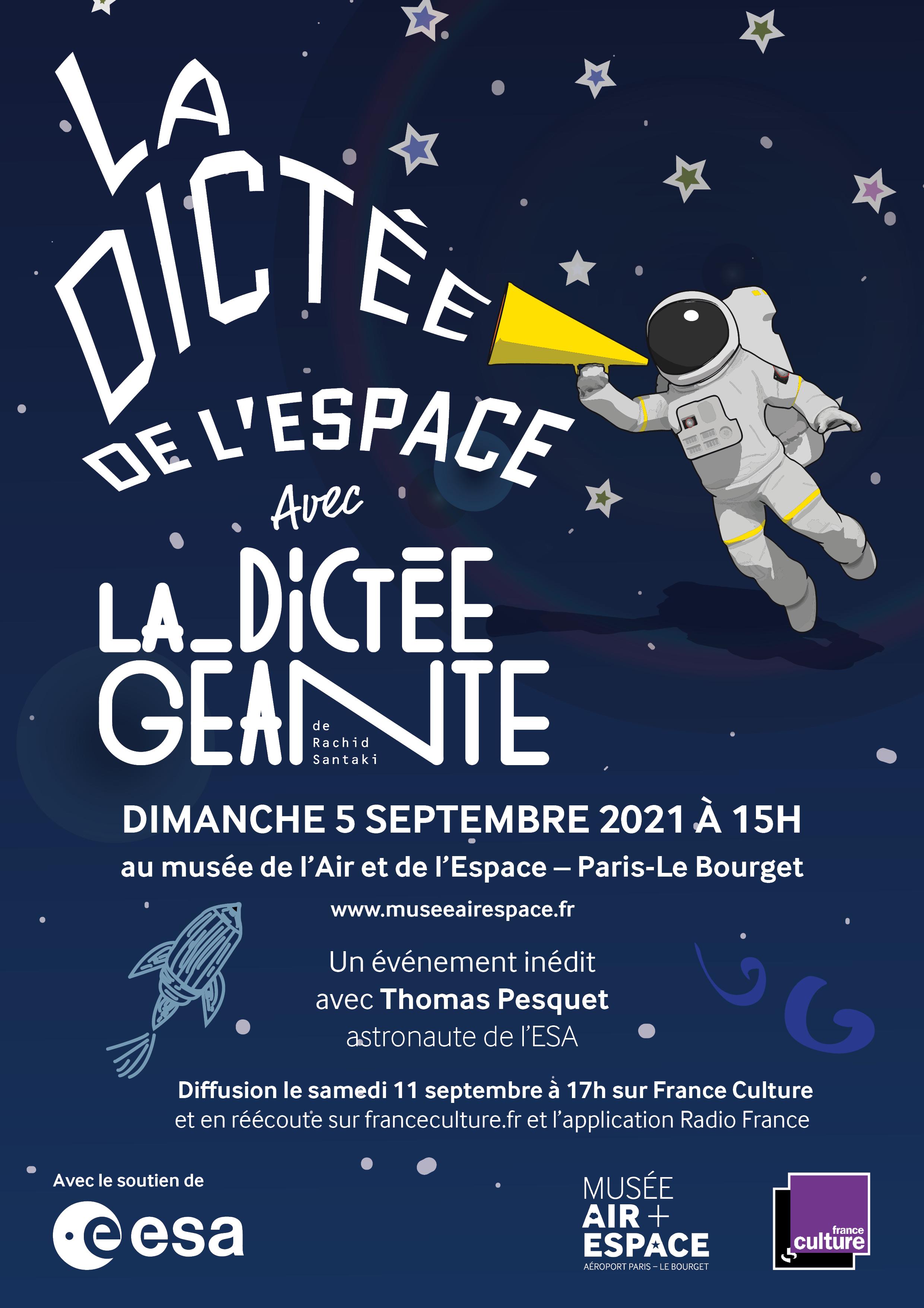 "France Culture organise ""La dictée de l'espace"""