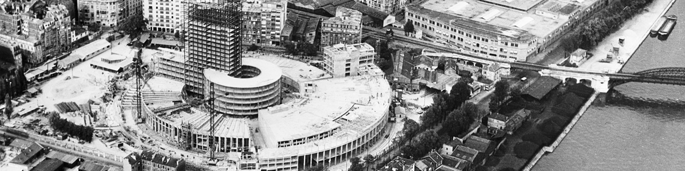 La Maison de la radio en construction © Archives Radio France