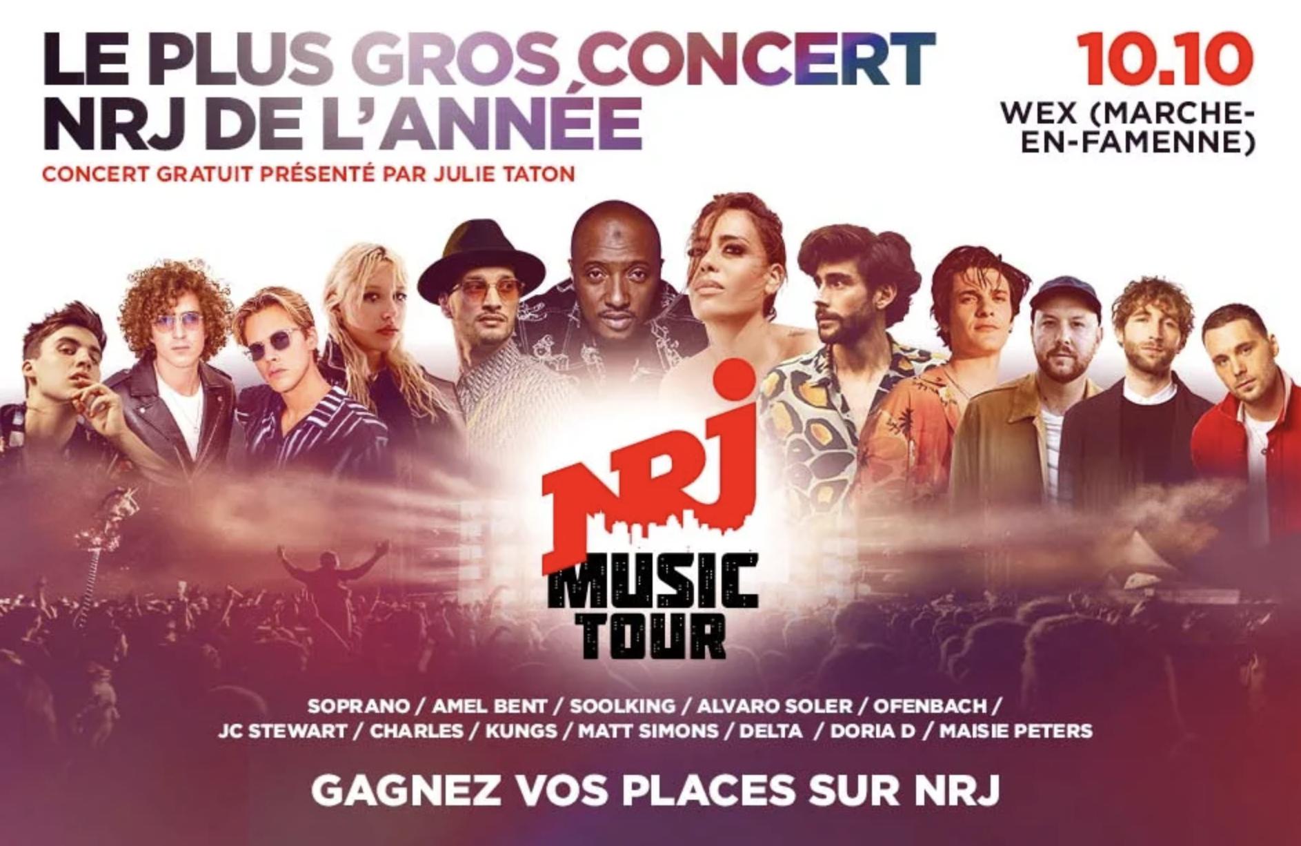 """Le """"NRJ Music Tour"""" revient en Belgique"""