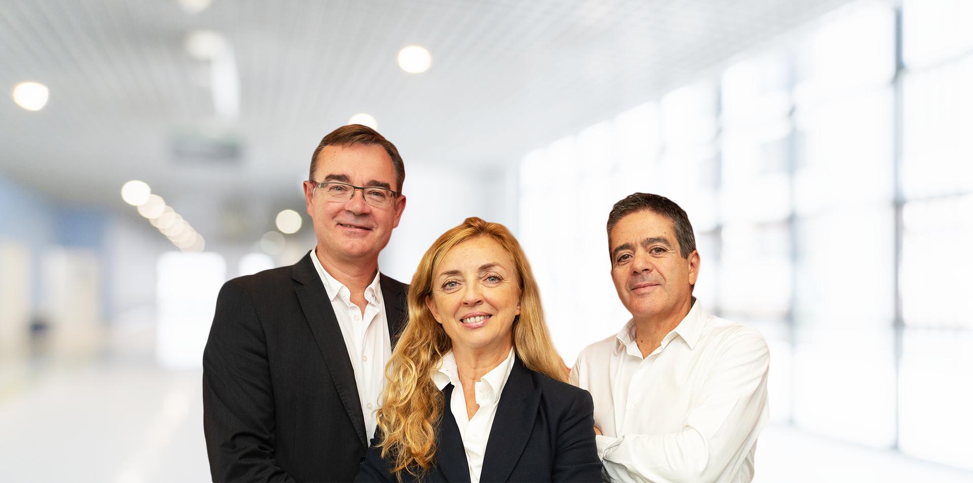 Frédéric Courtine, Anne-Marie de Couvreur et Jean-Louis Simonet sont les heureux parents d'AirZen. © AirZen.