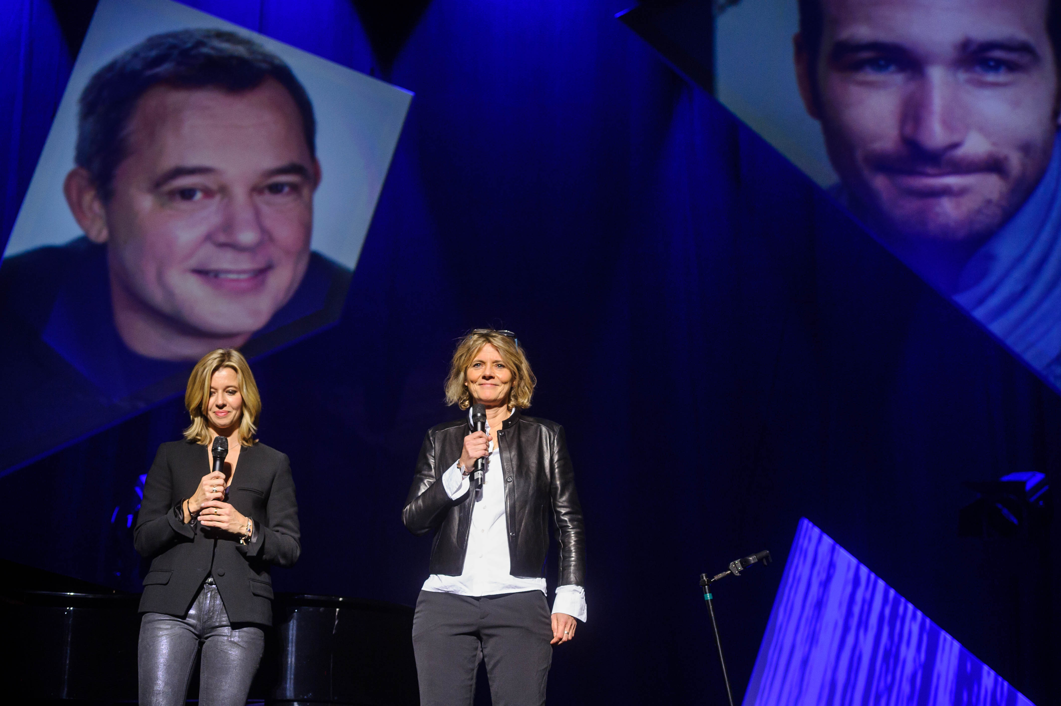 Wendy Bouchard et Florence Aubenas, présidente du Comité de soutien © Capa Pictures / Europe 1