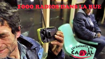 1 000 radios dans la rue