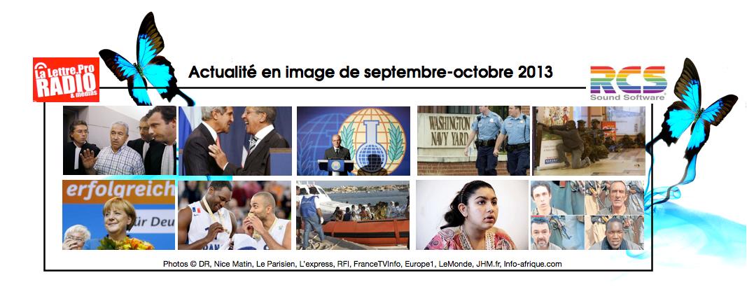L'actualité en image de la période Septembre-Octobre 2013