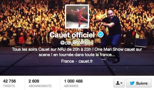 1 million de followers pour Cauet