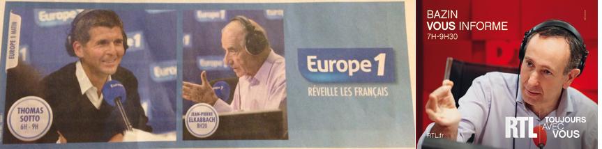 Dans Le Figaro, Elkabbach a la même gestuelle que Bazin