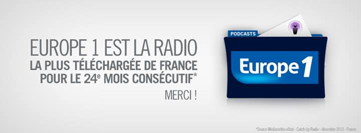 Europe 1 : 7 173 000 podcasts téléchargés