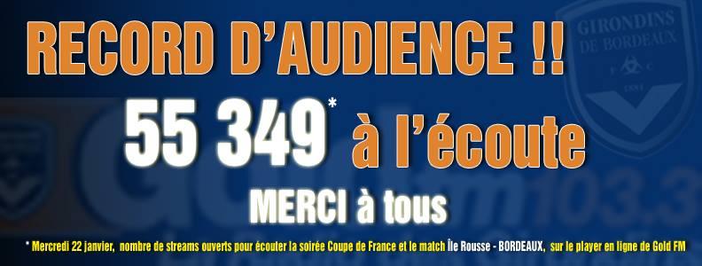 Le précédent record datait d'avril 2012 avec 48 205 auditeurs