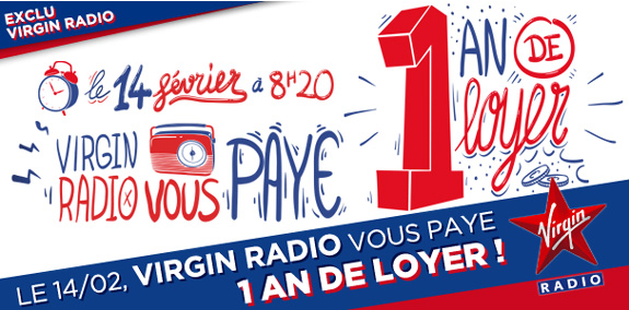 Virgin Radio : un an de loyer à gagner