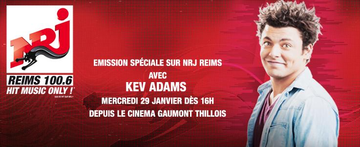 NRJ s'installe avec Kev Adams à Reims