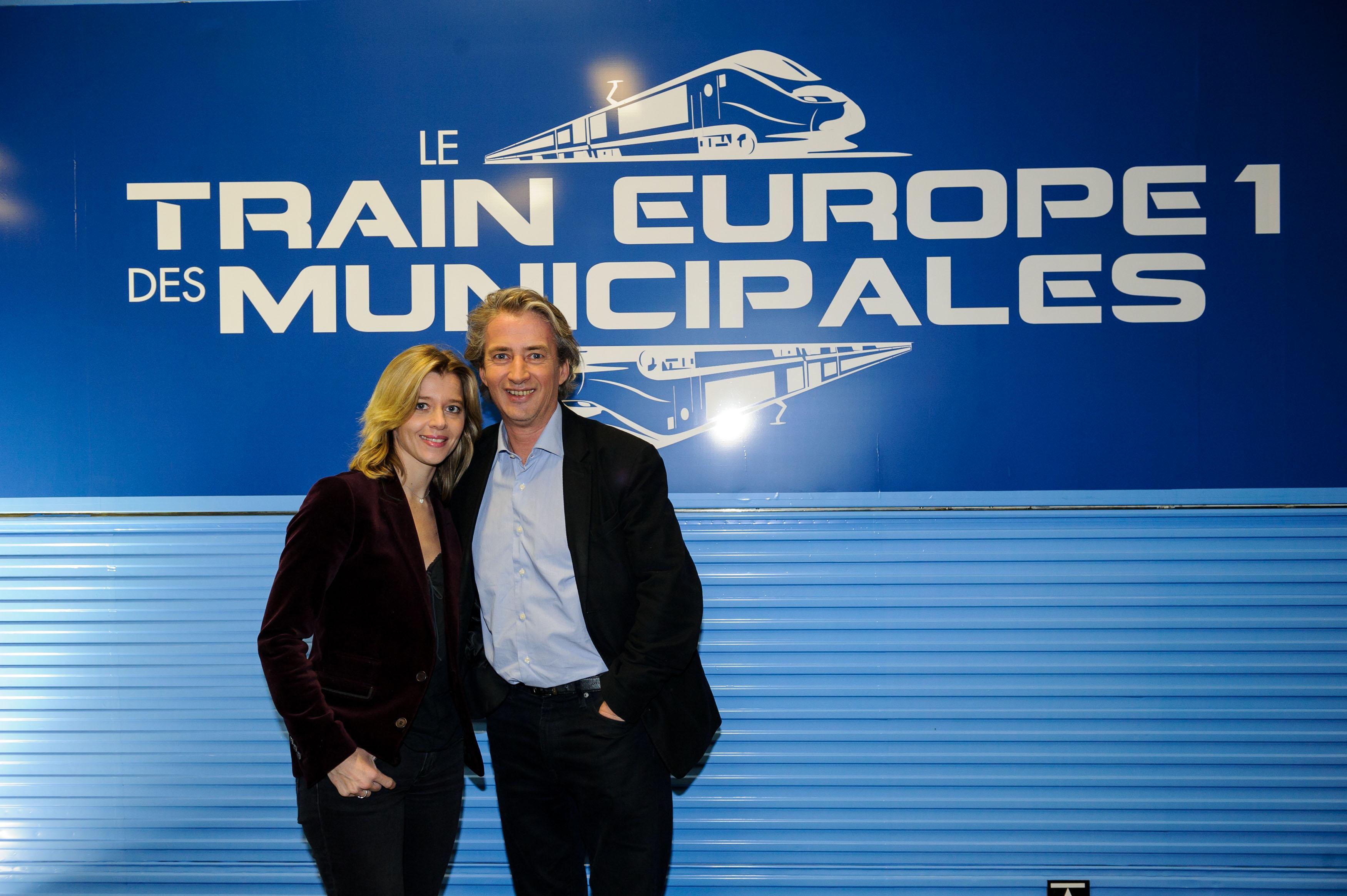 Wendy Bouchard et Nicolas Poincaré © Christophe Petit-Tesson / Capa Pictures / Europe 1
