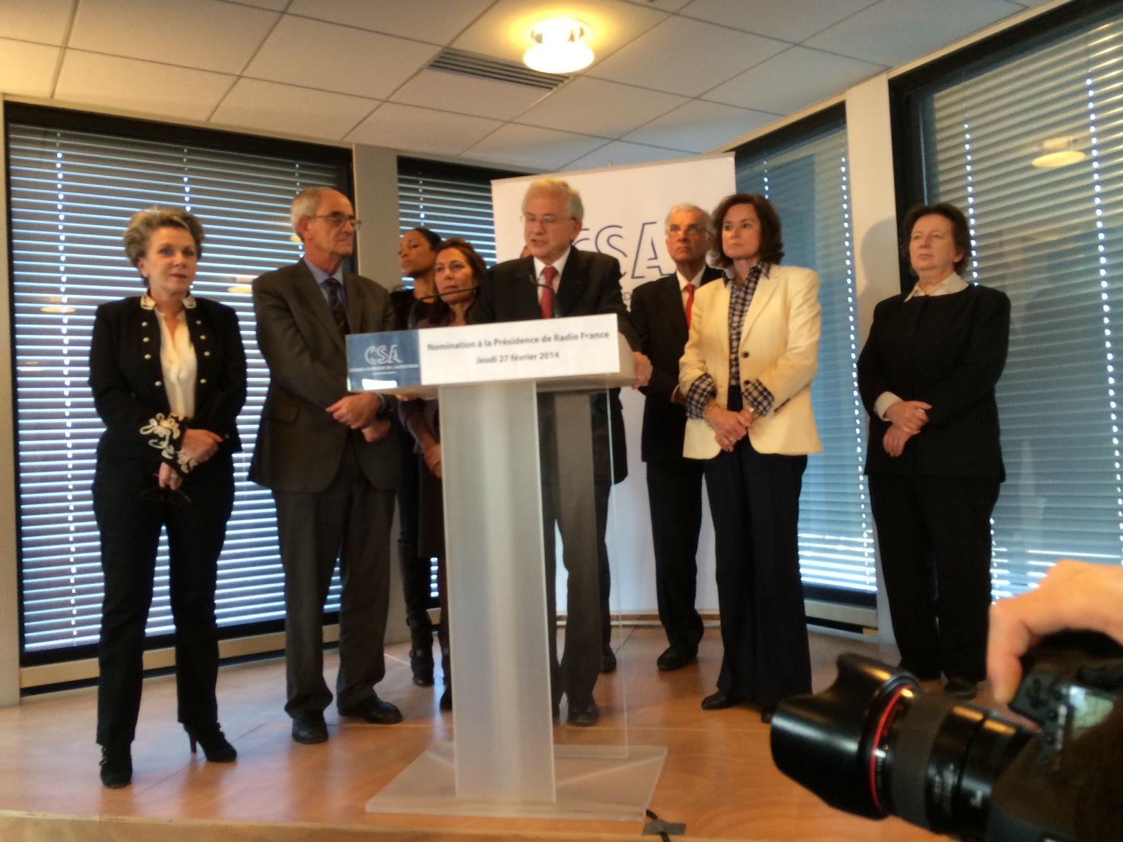 Le choix d'Olivier Schrameck, Président du Conseil supérieur de l'audiovisuel et des Membres du Collège s'est donc porté sur Mathieu Gallet © Serge Surpin