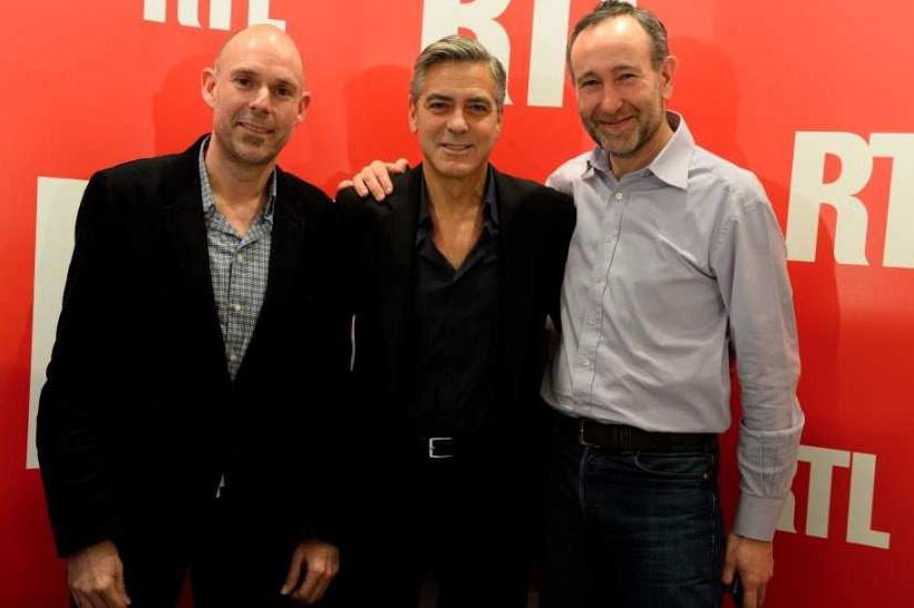 Boudsocq, Clooney et Bazin © Elodie Grégoire pour RTL