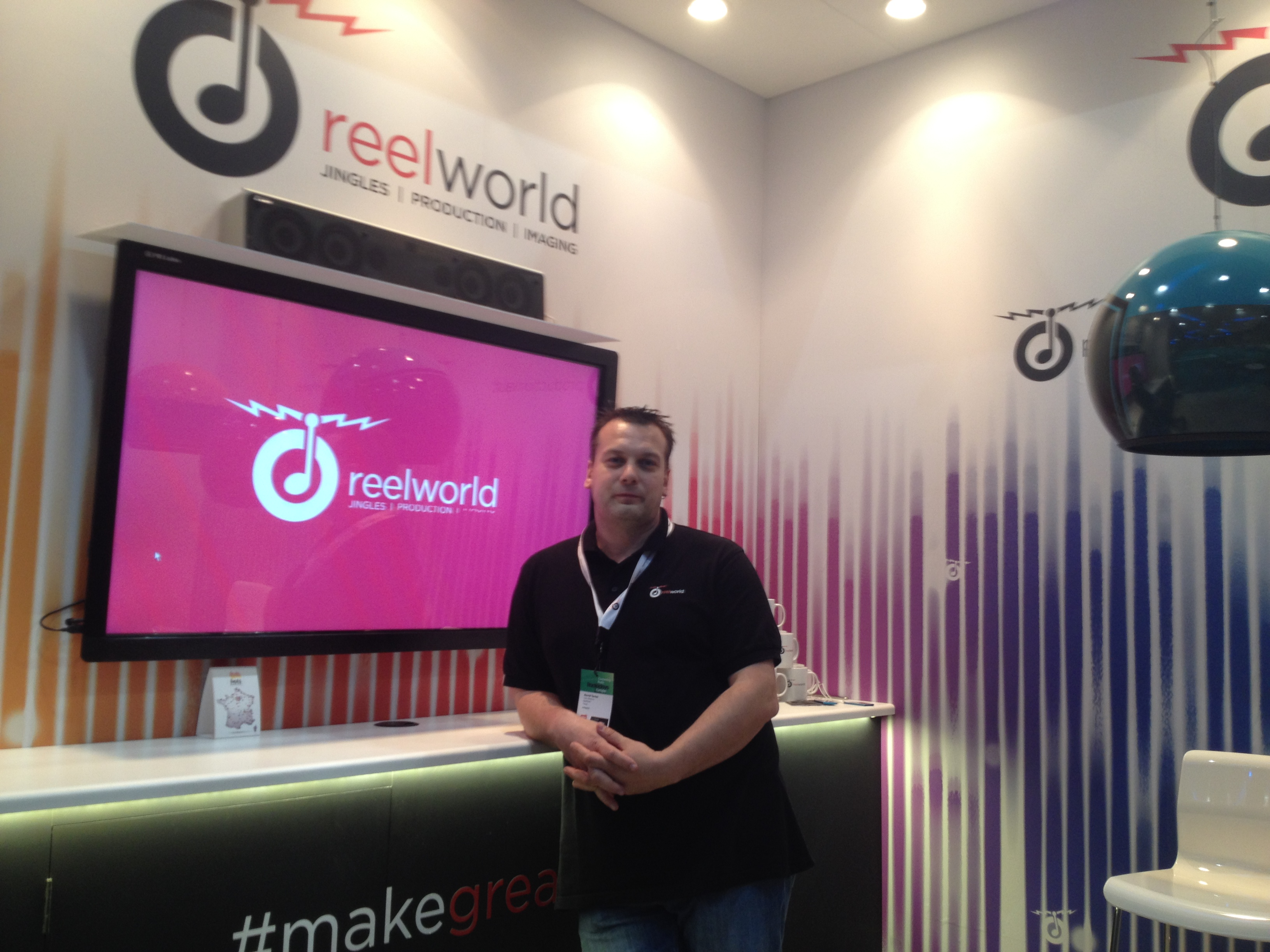 David Tartar sur son stand Reelworld