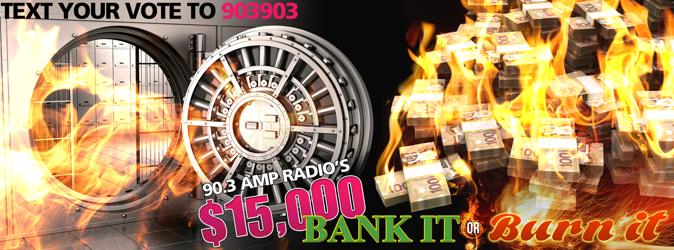 AMP Radio brûle 5.000 $ et fait le buzz