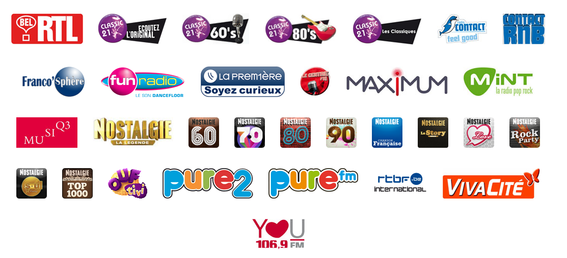 Les radios qui seront prochainementdisponibles sur maradio.fr